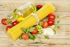 Spaghetti ingredients Stock Photos