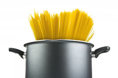 Spaghetti inside a pot Royalty Free Stock Photo