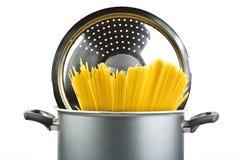 Spaghetti inside a pot Stock Photos