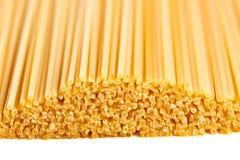 Spaghetti isolated macro background Stock Photos