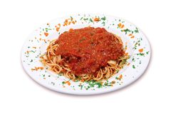 Spaghetti Italian stock photos