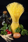 Spaghetti with Italian ingredients Royalty Free Stock Photography