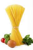Spaghetti with Italian ingredients Stock Photo