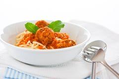 Spaghetti italiens Photo libre de droits