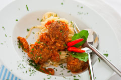 Spaghetti italiens Images libres de droits