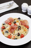 Spaghetti with jamon Royalty Free Stock Photography