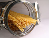 Spaghetti in in Jar Royalty Free Stock Photos