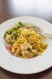 Spaghetti Keaw Whan, Thai Style Green Curry Royalty Free Stock Photos