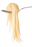 Spaghetti knot on fork Stock Photography
