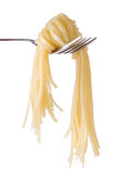 Spaghetti knot on fork Royalty Free Stock Image