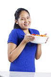 Spaghetti Lady Stock Photography