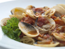 Spaghetti a le vongole Royalty Free Stock Images