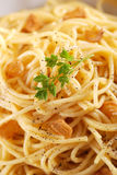 Spaghetti with lemon Royalty Free Stock Photos
