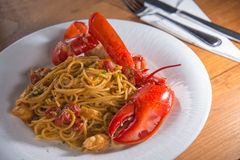 Spaghetti lobster Royalty Free Stock Photo