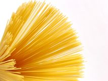 Spaghetti macro. Spaghetti isolated, macro shot with copy space royalty free stock photo