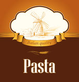 Spaghetti. makaron. Piekarnia. etykietki, paczka dla spaghet Obrazy Royalty Free