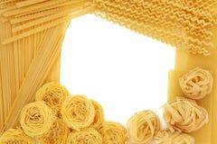 Spaghetti makaronu granica Zdjęcia Royalty Free