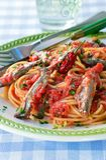 Spaghetti makaronu przepisy, makaronów naczynia Zdjęcie Stock