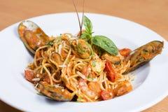 Spaghetti Marinara Stock Foto's