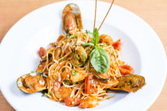 Spaghetti Marinara Photo libre de droits