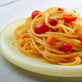 Spaghetti marinara pasta Stock Image