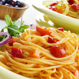 Spaghetti marinara pasta salad Royalty Free Stock Photo