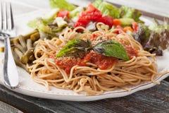 Spaghetti With Marinara Sauce close up Royalty Free Stock Photography