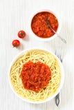 Spaghetti with Marinara Tomato Sauce Royalty Free Stock Photography