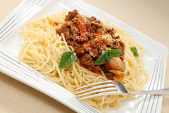 Spaghetti meal Royalty Free Stock Photos