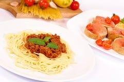Spaghetti meal Stock Image