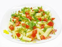 Spaghetti Meal Salad With Tomato Royalty Free Stock Photography