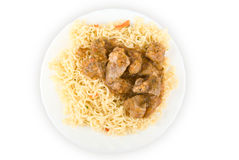 Spaghetti and meat Stock Photography