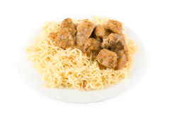 Spaghetti and meat Stock Image