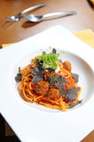Spaghetti and meat balls Royalty Free Stock Photos