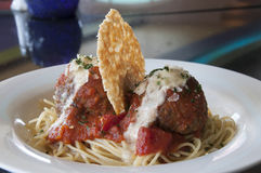 Spaghetti and meat balls Stock Image