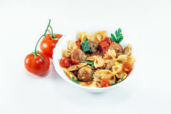 Spaghetti with meat balls Stock Photography