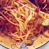 Spaghetti with meat sauce Royalty Free Stock Images