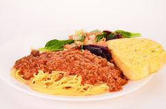 Spaghetti and Meat Sauce Royalty Free Stock Photos