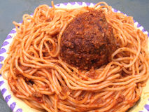 Spaghetti & Meatball Royalty Free Stock Photography