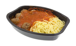 Spaghetti and meatball TV dinner Royalty Free Stock Photo