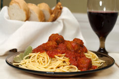 Spaghetti and Meatballs Royalty Free Stock Photos