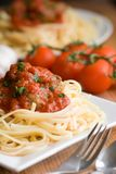 Spaghetti with meatballs Stock Images