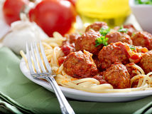 Spaghetti and meatballs Royalty Free Stock Photography