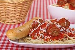 Spaghetti and Meatballs Royalty Free Stock Photo