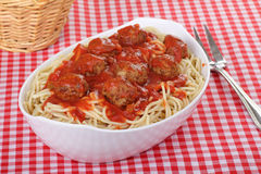 Spaghetti and Meatballs Royalty Free Stock Photos