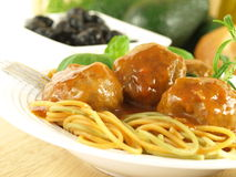 Spaghetti with meatballs Royalty Free Stock Photos