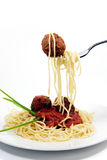 Spaghetti and Meatballs Stock Photography