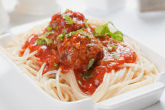Spaghetti and meatballs Stock Image