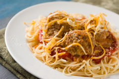 Spaghetti and Meatballs Stock Image