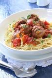 Spaghetti and Meatballs stock photography